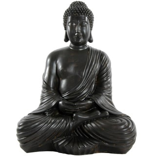 Handmade Large 17-inch Japanese Sitting Buddha Statue (China)