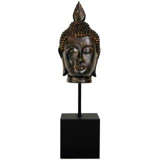 Handmade Burmese 19-inch Buddha Head Statue (China)