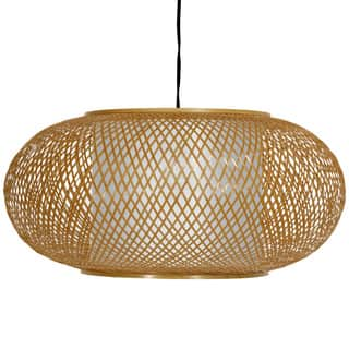 Handmade Bamboo/ Paper Kata Japanese-style 8-inch Honey Ceiling Lantern (China)|https://ak1.ostkcdn.com/images/products/5079633/P12937595.jpg?impolicy=medium