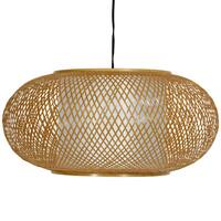 Handmade Bamboo/ Paper Kata Japanese-style 8-inch Honey Ceiling Lantern (China)