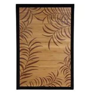 Handmade Asian 'Tropical Leaf' Rayon from Bamboo Rug (China) - 2' x 3'