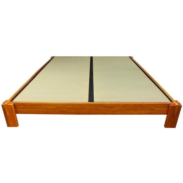 Mahogany Honey Queen Tatami Platform Bed (China)