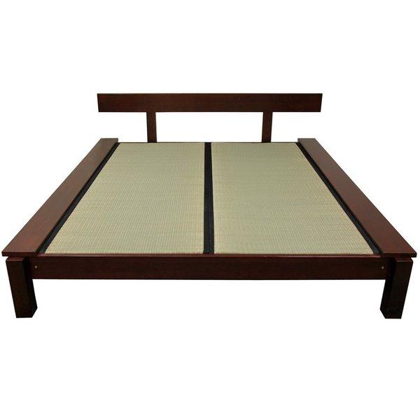 Mahogany Kasagi Tatami King-size Platform Bed (China)