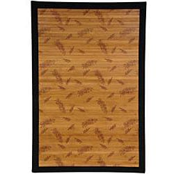 Asian 'Little Leaf' Rayon from Bamboo Rug (4' x 6')