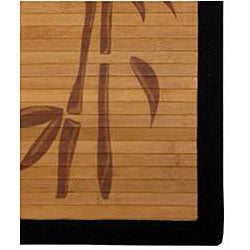 Handmade Asian 'Bamboo Tree' Rayon from Bamboo Rug (4' x 6') - Thumbnail 2