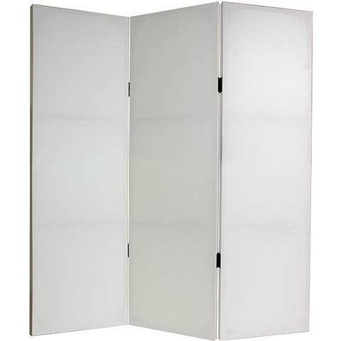 Handmade Canvas Do It Yourself 4-foot 3-panel Room Divider (China)
