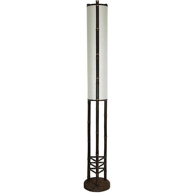 Handmade Bamboo 5-foot Koru Japanese-style Floor Lamp (China)