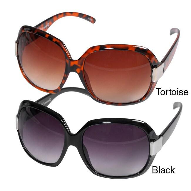 Women's Journee Oversized Plastic Sunglasses