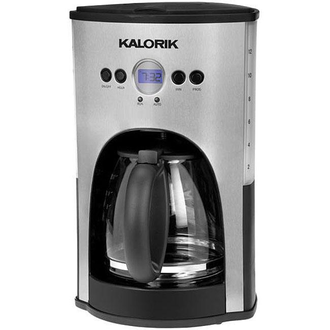 Kalorik CM 25282 SS Black 12-cup Coffee Maker