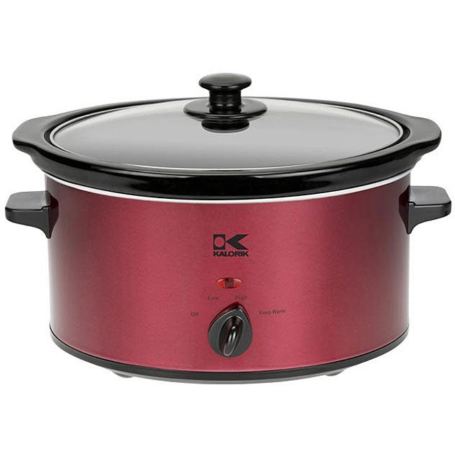 Kalorik SC 32553  Red 3.5-quart Slow Cooker