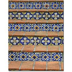 Patty Tuggle 'Blue and Yellow Tiles' Canvas Art