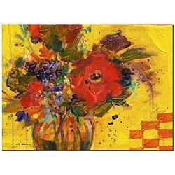 Sheila Golden 'The Yellow Wall' Canvas Art