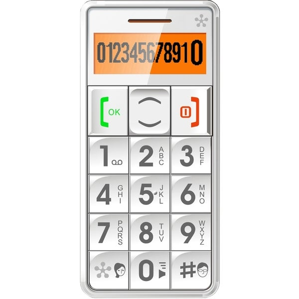 "Just5- Mobile Handset GSM Compatible Unlocked"" White"""