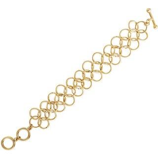 NEXTE Jewelry 14k Gold Overlay Corona Circle Bracelet (50.8 mm)