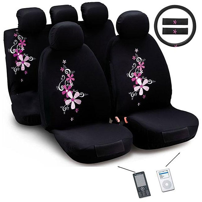 Montage Flower 12-piece Universal Fit Seat Cover Set (Airbag-friendly)