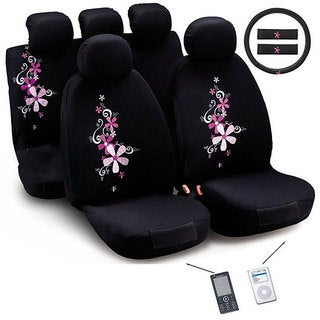 Shop Montage Flower 12 Piece Universal Fit Seat Cover Set