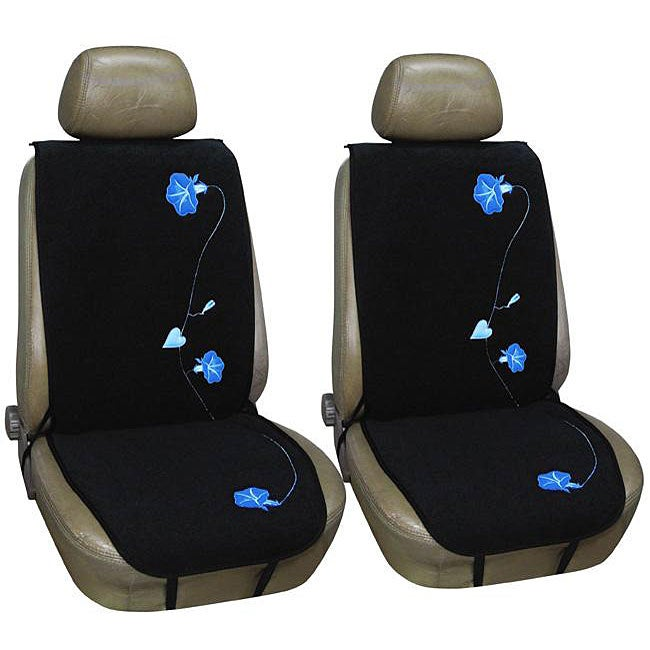 Morning Glory Flowers 2 Piece Automobile Seat Cover Set