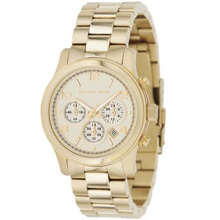 Michael Kors Women's MK5055 'Runway' Stainless Steel Watch - Gold