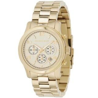 Michael Kors Women's MK5055 'Runway' Stainless Steel Watch - Gold