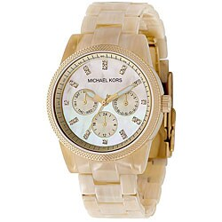 Michael Kors Women's Horn Jet Set Chronograph Watch