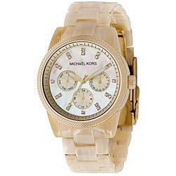 9eb80b3c75e0 Michael Kors Women s Horn Jet Set Chronograph Watch