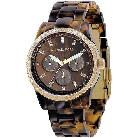 Michael Kors Women's Tortoise Chronograph Watch