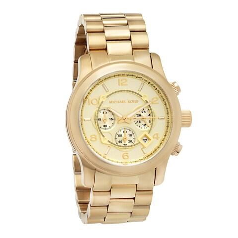 Michael Kors Men's MK8077 Yellow Goldtone Bracelet Watch - GOLD