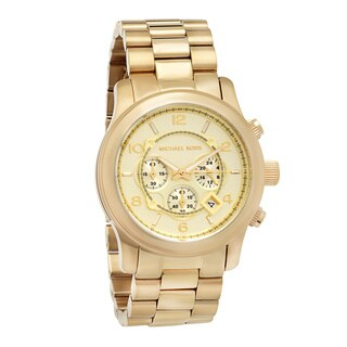 Michael Kors Men's MK8077 Yellow Goldtone Bracelet Watch - GOLD