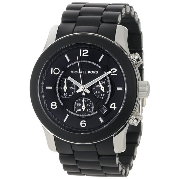Michael Kors Men's MK8107 Runway Black Silicone Chronograph Watch - Free  Shipping Today - Overstock.com - 12941240
