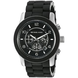 Michael Kors Men's MK8107 Runway Black Silicone Chronograph Watch