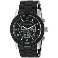 Michael Kors Men's MK8107 Runway Black Silicone Chronograph Watch