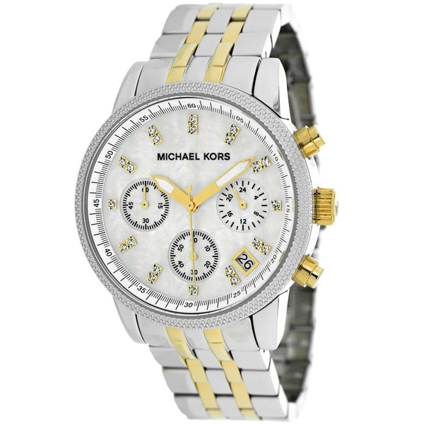 Michael Kors Women's MK5057 Ritz Chronograph Stainless Steel Watch. Opens flyout.