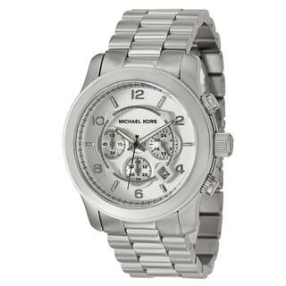 Michael Kors Men's MK8086 Chronograph Silvertone Bracelet Watch|https://ak1.ostkcdn.com/images/products/5084200/P12941243.jpg?impolicy=medium