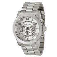 Michael Kors Men's MK8086 Runway Stainless Steel Silver Chronograph Watch