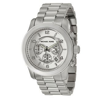 Michael Kors Men's MK8086 Chronograph Silvertone Bracelet Watch - silver