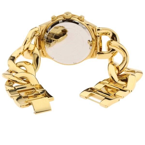 Shop Michael Kors Women's MK3131 Gold Stainless Steel Quartz