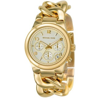Michael Kors Women's MK3131 Runway Gold-tone Chronograph Watch