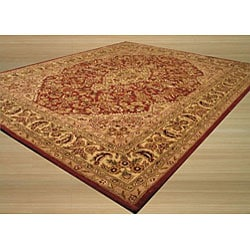 Hand-tufted Wool Rust Traditional Oriental  Rust Simba Rug (5' x 8') - Thumbnail 1