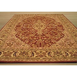 Hand-tufted Wool Rust Traditional Oriental  Rust Simba Rug (5' x 8') - Thumbnail 2