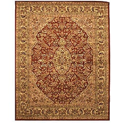 Hand-tufted Wool Rust Traditional Oriental Rust Simba Rug (5' x 8')