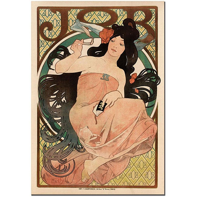 Alphonse Mucha 'Job' Gallery-wrapped Canvas Poster
