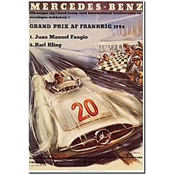 H. Liskars 'Mercedes-Benz' Gallery-wrapped Canvas Poster