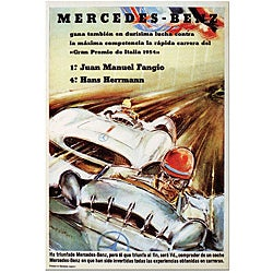'Mercedes Benz' Gallery-wrapped Canvas Poster