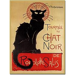 Theophile A. Steinlenl 'Tournee du Chat Noir' Canvas Poster
