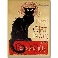 Theophile A Steinlenl Tournee Du Chat Noir Canvas Poster