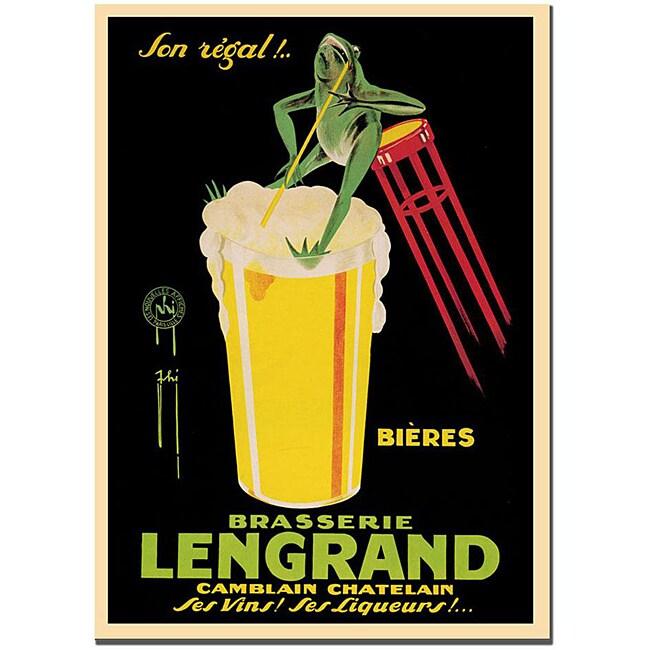 G. Piana Dorival 'Bieres Brasserie Lengrand' Canvas Poster
