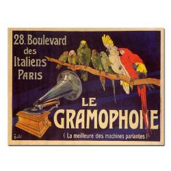 'Le Gramaphone' Canvas Art - Thumbnail 1