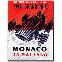 George Ham 'Monaco 1960' Canvas Poster