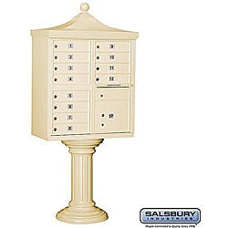 Salsbury Regency Heavy-Duty Decorative Cluster Mail Box Unit - USPS Access