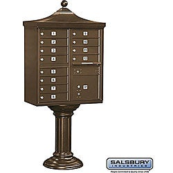 Salsbury Regency Decorative Cluster Mail Box Unit - USPS Access